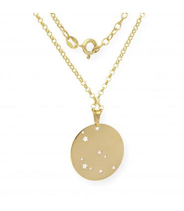 Pulsera de plata dorada cercle de 40 mm