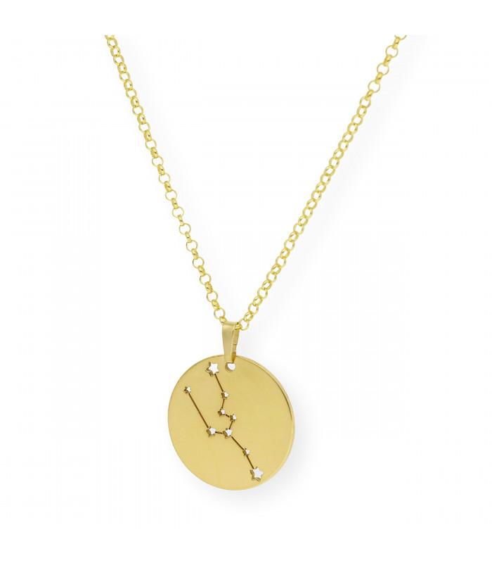Colgante Rosé personalizado en plata chapada oro amarillo y onix