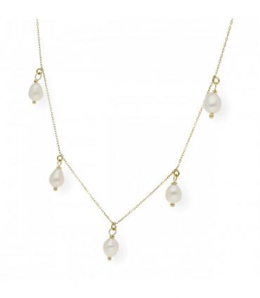 Pulsera Comunión perlas, nácar y plata