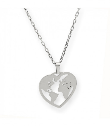Llavero personalizable en plata de primera ley con forma de corazón