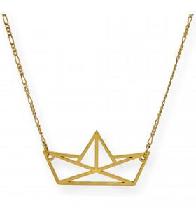 Collar Triple Arc plata oro rosa