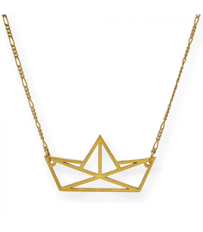 Collar Arc Triple en Plata bañada en oro rosa de 18 kts