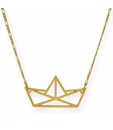 Arc Triple Necklace in pink gold-plated silver