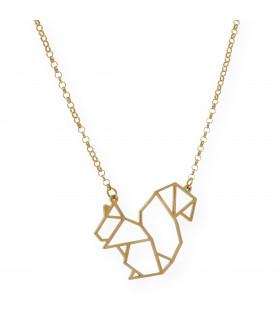 Colgante plata Corazón Origami