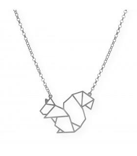 Colgante plata oro Barco Origami