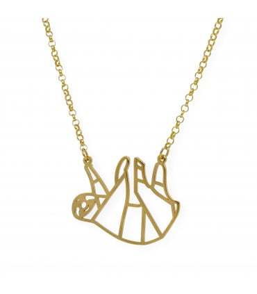 Gold-plated silver pendant Star 40 mm