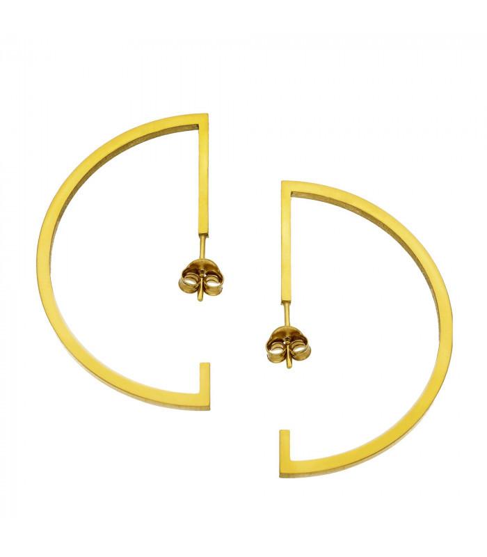 Pendientes en oro con circonita en flor Oro de 18 kt