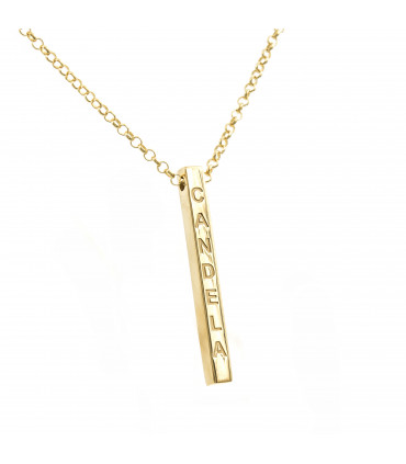 Gold plated silver Pendant Cloud 40mm