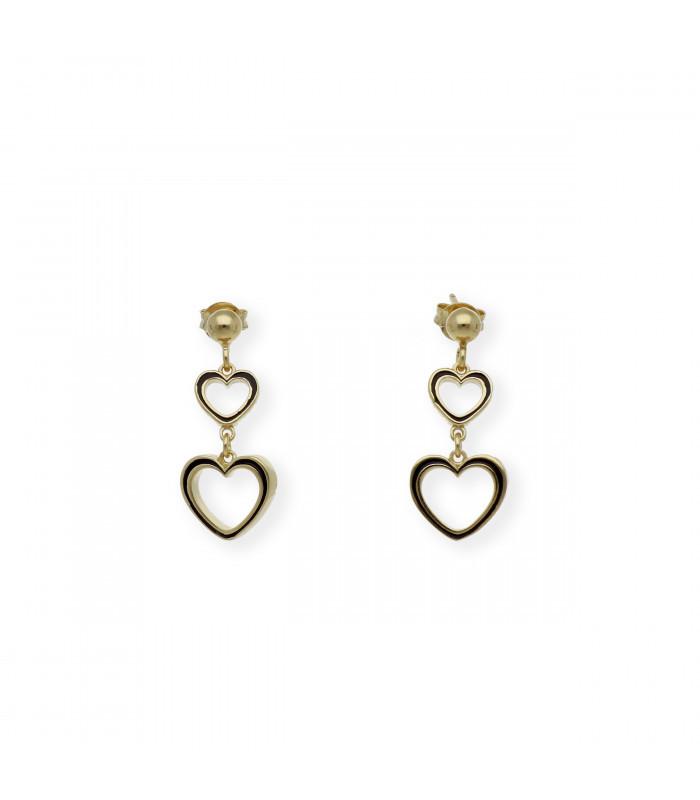 Pendientes de oro blanco de 18 kt. con perlas australianas