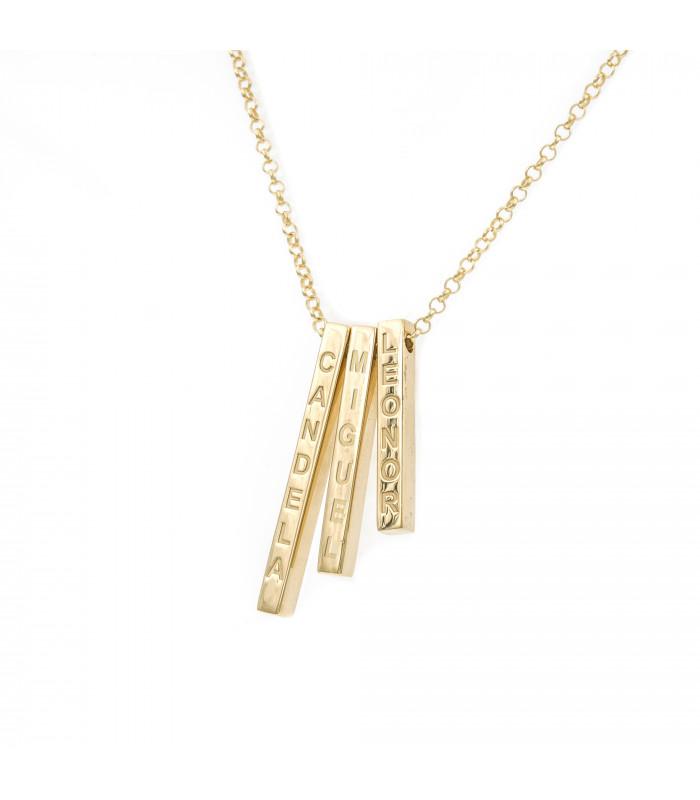 Pulsera You And Me 30mm plata dorada joyas personalizadas joyerias online joyeria
