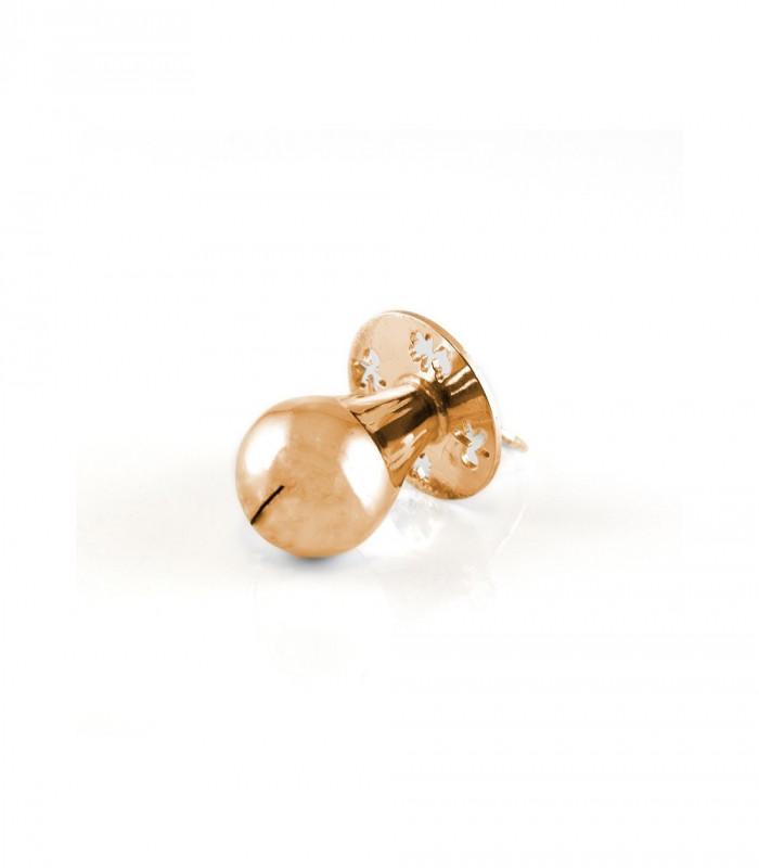Pendientes de oro 18 kt con brillante y perla cultivada de diseño redondo