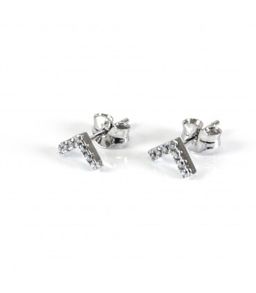 Cufflinks with initial Letters in sterling silver