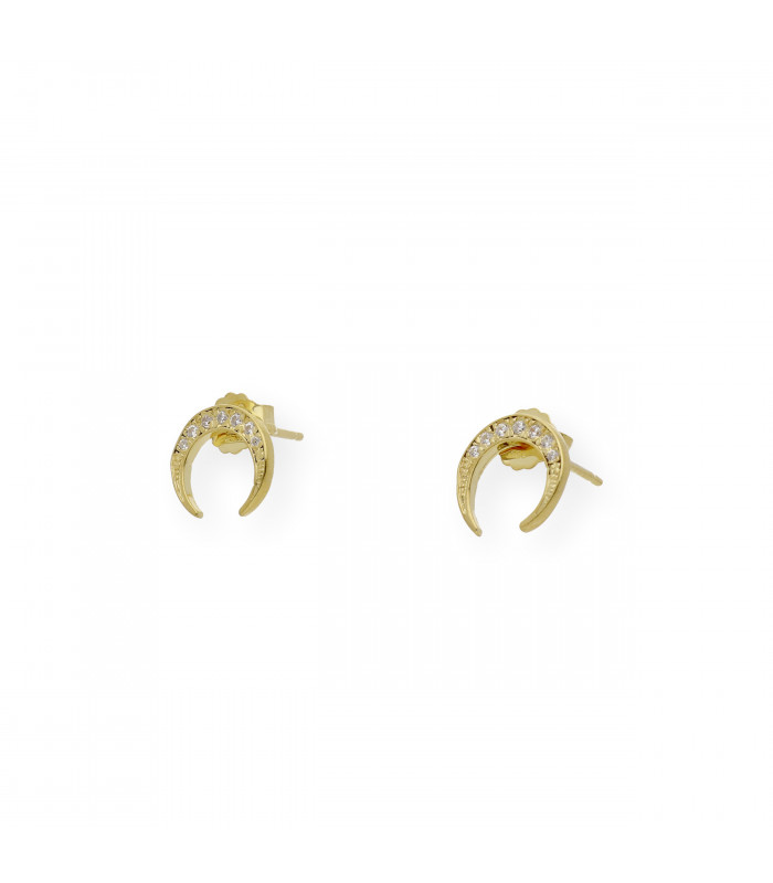 Pendientes desmontables de plata con rubíes y zafiros Colección Bauhaus mod. Sonia
