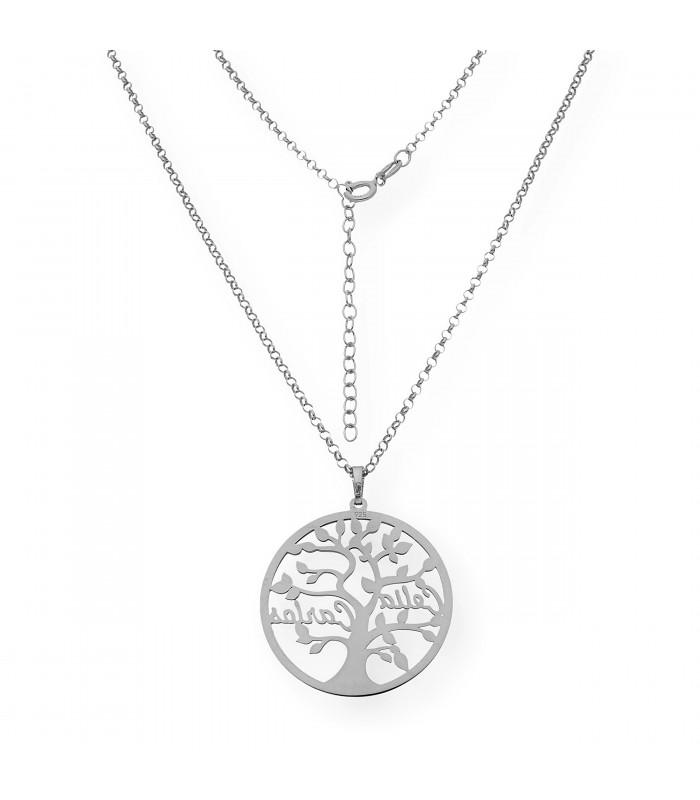 Pulsera de plata con circonitas diseño entrelazado