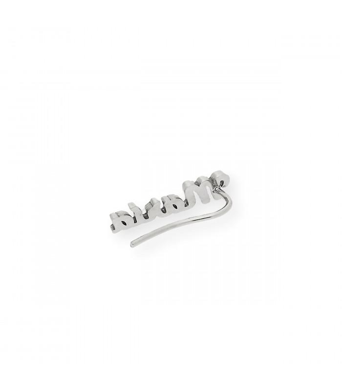 Pendientes de plata con lapislázuli redondo