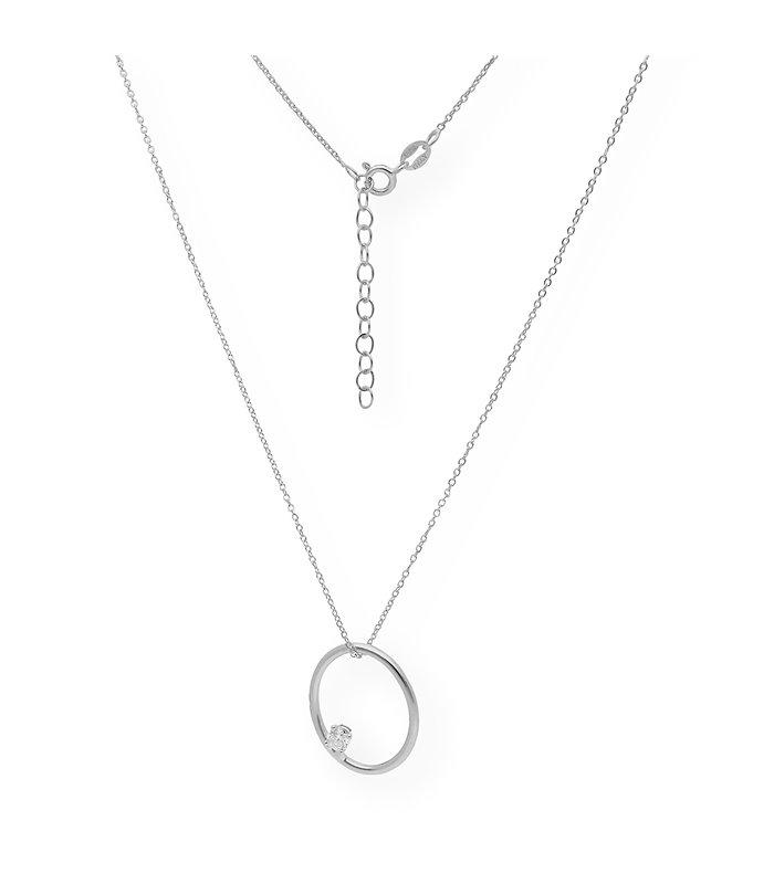 Gargantilla de plata diseño de encaje y bolas de plata