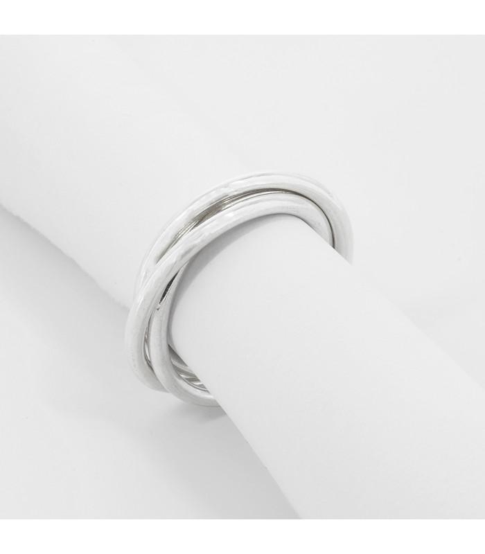 Pendientes de plata con circonitas y zafiros