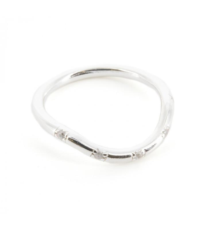 Pendientes largos de plata con circonitas y perlas barrocas