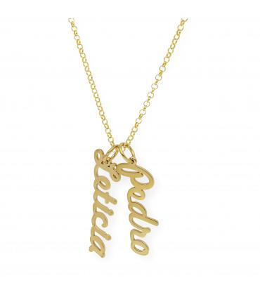 Brazalete personalizado plata oro rosa 18 kt.