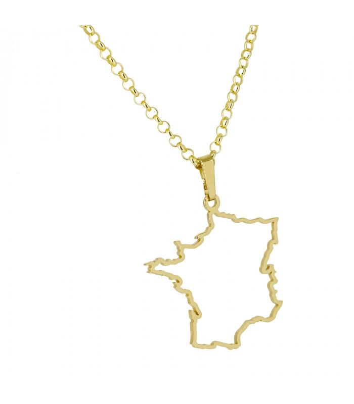 Pulsera de plata oro Flor de Lis