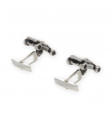 Institucional Silver Cufflinks personalized
