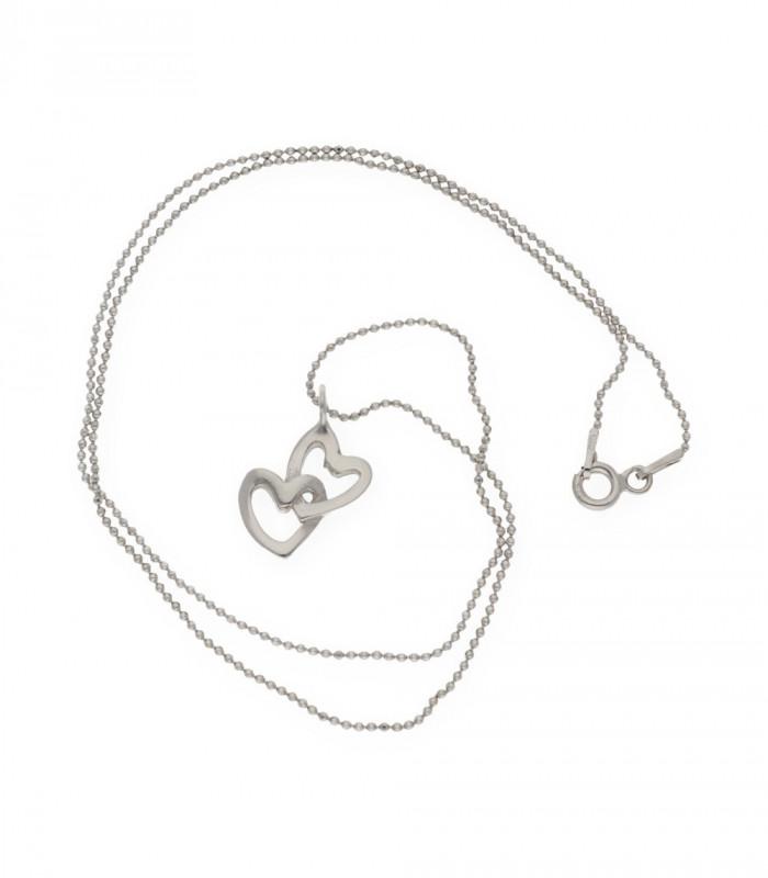 Colgante de alas de plata dorada con cadena accesorios de moda online silver and steel