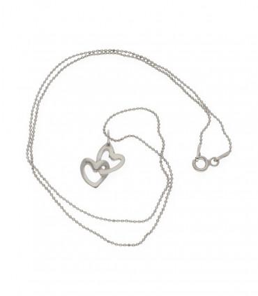 Colgante de alas de plata rosa con cadena