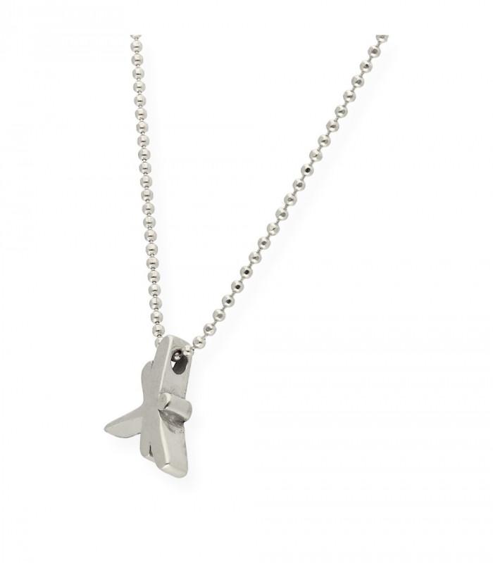 Pulsera de alas de plata rosa con cadena accesorios de moda online silver and steel