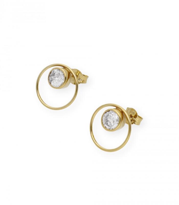 Pendientes de perlas australianas 11 mm y oro accesorios de moda online Silver and Steel
