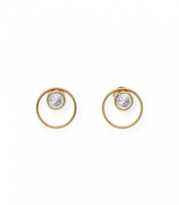 Pendientes de perlas cultivadas australianas 12 mm y oro