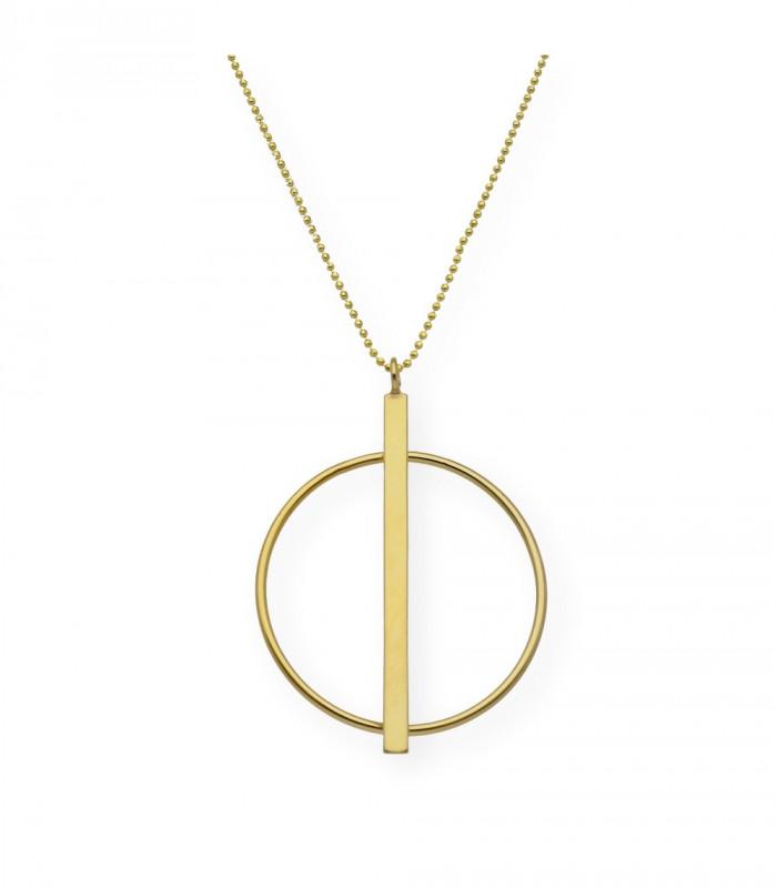 Colgante ovalado nácar pequeño personalizado plata accesorios de moda online Silver and Steel