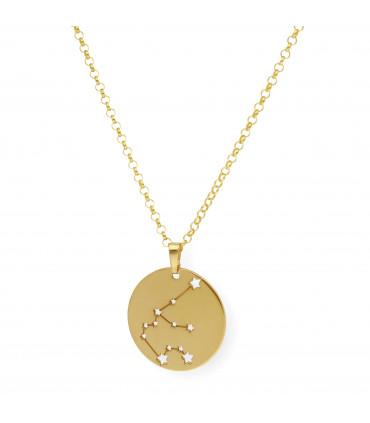 Pendientes pequeños de oro con forma de trébol